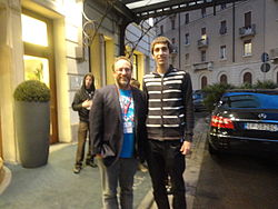 Arnaugir and Jimmy Wales in Milan 2013.JPG