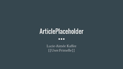 Presentation on ArticlePlaceholder