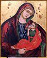 Artista veneto-cretese, vergine galaktotrophousa, xvii secolo (ascoli, pinacoteca civica).jpg
