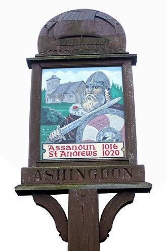 Ashingdon - Image: Ashingdon sign