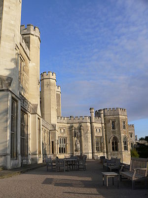 Ashridge - Decorative crenellations on the house