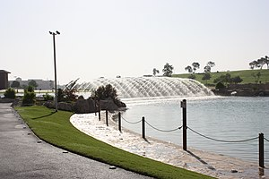 Aspire Park - Fountain at Aspire Park