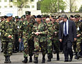 At the end of CABANAS 2001 ceremonies, senior American officials could focus on the terrorist attacks on the United States that destroyed the World Trade Center towers, killing thousands, and damaged the 010911-F-QY364-784.jpg
