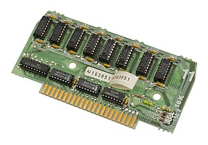 Atari 8-bit family - The Atari 800 used large expansion cards for the RAM, ROM and processor. Most Atari 800s shipped with three of these 16KB RAM cards, for a total of 48KB.