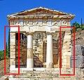 Athenian Treasury antae.jpg