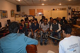 Attendees enjoyed musical session at BNWIKI12 celebration in Chittagong (07).jpg