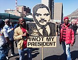 Atul Gupta protest banner - Cape Town Zuma must fall.jpg