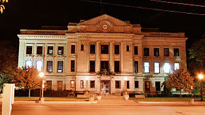 The DeKalb County courthouse in Auburn, Indiana.