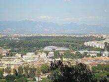 Una panoramica del quartiere Parioli intorno all'auditorium
