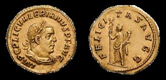 Valerian (emperor) - Image: Aureus Valerian RIC 0034 transparent