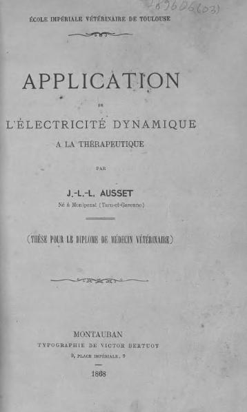 File:Ausset - Application de l'électricité dynamique à la thérapeutique.djvu