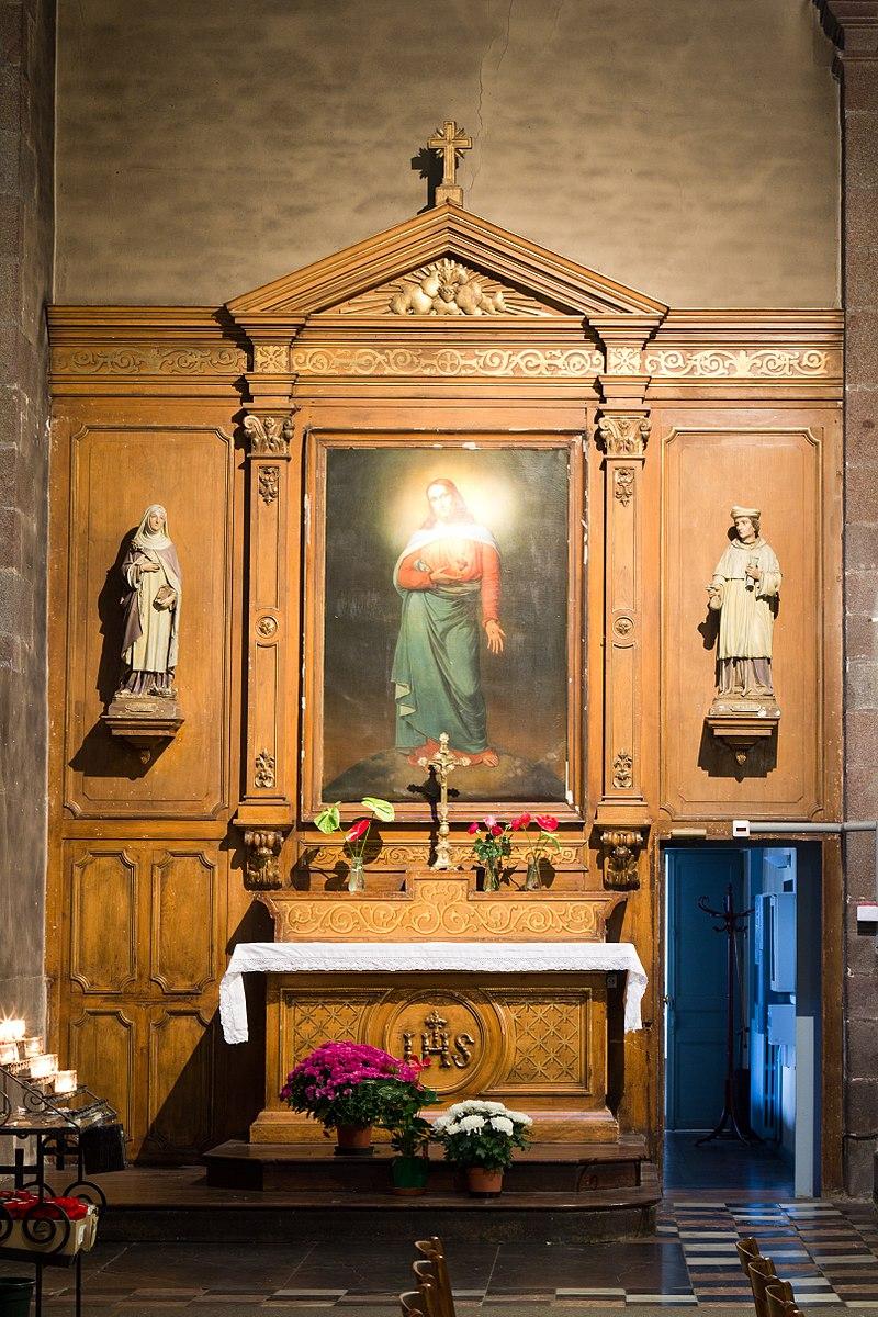 Français:  Autel du Sacré-Cœur.