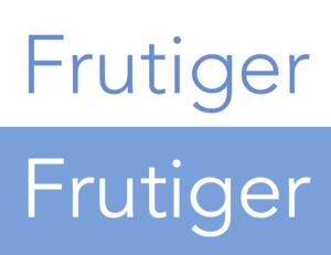 Avenir (typeface) - Avenir weights compared. The white text is slightly bolder.
