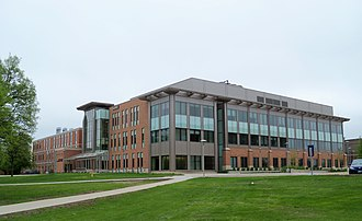 South Dakota State University - Avera Health Sciences Center on the west side of campus