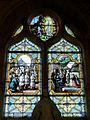 Avrechy (60), église Saint-Lucien, bas-côté nord, verrière n° 9 - souvenir du mariage Rudeaux-Fromentin du 14 mai 1903.JPG