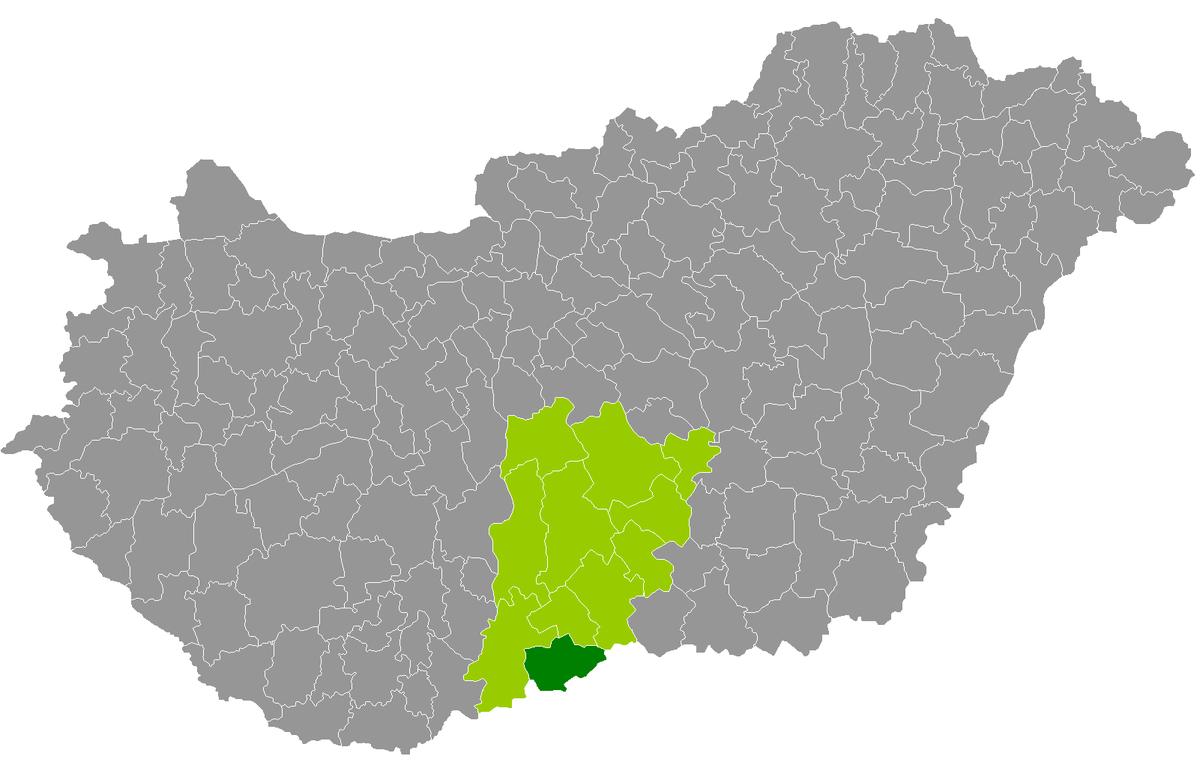 bácsalmás térkép Bácsalmás District   Wikipedia bácsalmás térkép