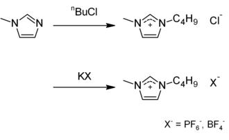 1-Butyl-3-methylimidazolium hexafluorophosphate - Image: BMIM
