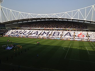 Fabrice Muamba - Bolton fans show their support for Muamba at their first match after the incident, against Blackburn Rovers on 24 March 2012.
