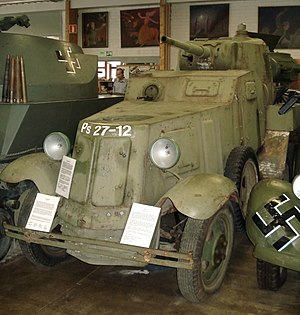 BA-10 - BA-10M armored car, displayed in Finnish Tank Museum, Parola.