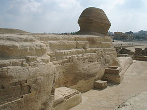Sphinx - Back of Sphinx, Giza Egypt