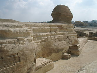 Sphinx - Back of the Great Sphinx, Giza, Egypt