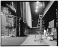 Backstage, looking west. (Aug. 1991) - Fox Theater, Seventh Avenue and Olive Way, Seattle, King County, WA HABS WASH,17-SEAT,11-40.tif