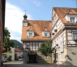 Town center with the old town hall