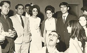 Bahram Beyzai - Beyzai in his first wedding in the company of other artists, notably Parviz Fannizadeh and Parviz Sayyad, 1965