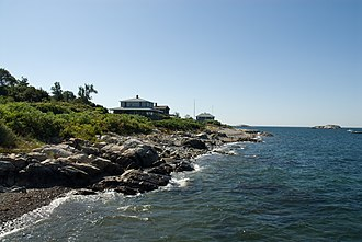 Bakers Island - Bakers Island shoreline, pictured in 2008.