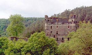 Burg Balduinseck von Süden