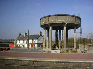 Ballybrophy - Image: Ballybrophy water tower 2002