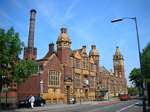 Public Library and Baths, Balsall Heath - Image: Balsall Heath Baths and Library