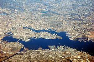 Port of Baltimore - Aerial view of the port