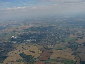 History of Banbury - Banbury from the north-west.