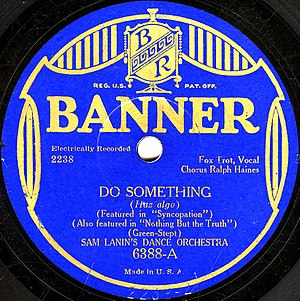 Sam Lanin - Label of a  Sam Lanin recording on Banner Records.