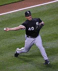 Bartolo Colon playing for the White Sox