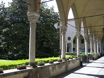 Courtyard at Basilica of Saint Anthony of Padu...