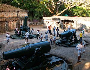 Battery Way - Image: Battery Way Three mortars and command center 2