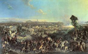 La battaglia di Novi, quadro di Alexander Kotzebue (1815-1889).