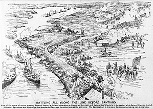 Battle of Santiago de Cuba - Illustration of the July 1898 battle