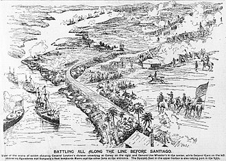 Battle of Santiago de Cuba - Illustration of the July 1898 battle
