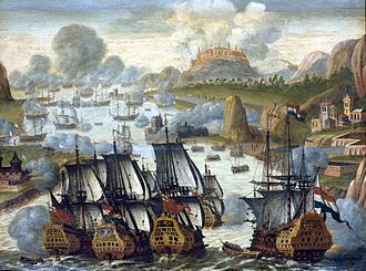 Battle of Vigo Bay - The Battle of Vigo Bay. Anonymous