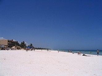 Progreso, Yucatán - Image: Beach at Progreso, Yucatán