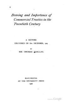 Bearing and Importance of Commercial Treaties in the Twentieth Century, 1906.djvu