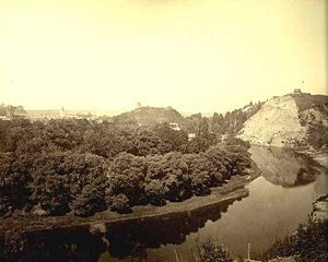 Kalnai Park - Remains of Bekes Hill (on the right) before it was washed away entirely