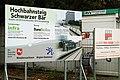 Belege, Belege. Belege, am Hochbahnsteig Schwarzer Bär in Hannover vor der Brücke über die Ihme nach Entwurf von Schulitz - Partner ...jpg