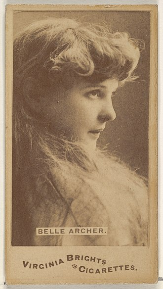 Belle Archer - Belle Archer, from the Actors and Actresses series (N45, Type 1) for Virginia Brights Cigarettes