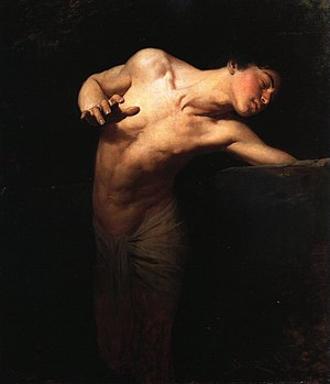 Narcissus (mythology) - Narcissus by Gyula Benczúr