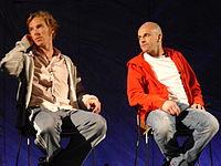 Benedict Cumberbatch et Jonny Lee Miller en 2011.