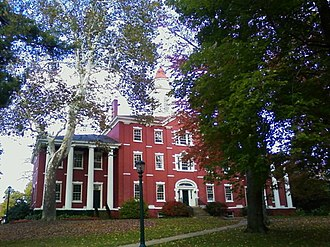 Allegheny College -  Historic Bentley Hall which houses the college administration, including the Registrar and Office of the President